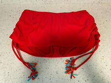 New listing red skirted CACIQUE  swim suit bikini bottom size 14