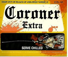 Coroner Extra Novelty Halloween Beer Bottle Label - Mock Corona Label GLOWS