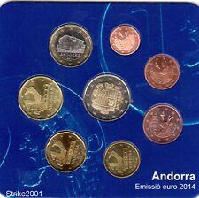 NEW !!! Euro ANDORRA Starter Kit Ufficiale 2014 - 8 monete Fdc