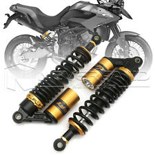 "Universal 13.5"" 340mm Black Motorcycle Adjustable Air Shock Absorbers Anodized"