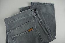Carhartt Vizioso Pantalone Uomo W38/L32 Grigio Whisker Wash Zip Fly Jeans 21727