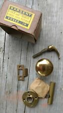 Solid Brass Screen Door Knobs Set Sargent  NOS