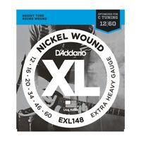 D'Addario EXL148 Nickel Wound Extra-Heavy Electric Guitar Strings .012-.060