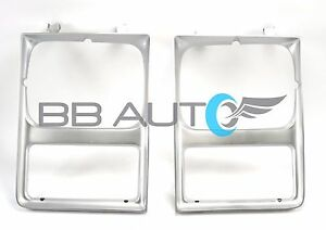 85-88 CHEVY PICKUP BLAZER SUBURBAN SINGLE RECTANGLE HEADLIGHT BEZEL TRIM NEW SET
