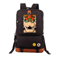 Super Mario Bros King Koopa Bowser Backpack School  Book bag Rucksack New
