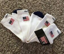 Lot Of 2 Pairs Vintage DeadStock Polo Ralph Lauren Socks Size 10-13 Made in USA