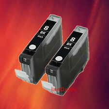 2 CLI-8 BK BLACK INK FOR CANON iP6600 iP6700D MP500