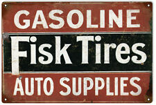 Fisk Gasoline Tires And Auto Supplies Gas Station Sign