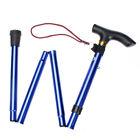 Adjustable Folding Walking Cane Strong Study Aluminum Ergonomic Handle BLUE