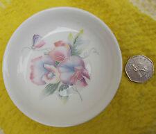 Aynsley bone china pin dish Sweet pea flower English LITTLE SWEETHEART