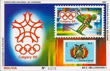 Bolivia 1988 - Sports Winter Olympics Calgary Emblem Coat of Arms III - MNH