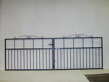 Wrought iron driveway gate for 290 cm opening 990 cm high HOT DIPPED GALVANIZED