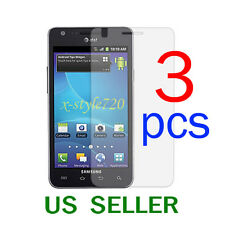 3pcs Clear LCD Screen Protector Guard Cover For Samsung Galaxy S II SGH-i777