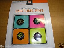 New ! 5 X 4 Pk Costume Pins Christmas Holidays Time Toy Party Time Holloween