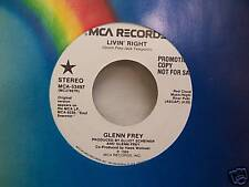 "Glenn Frey - Eagles - LIVIN RIGHT [1989] Promo Vinyl - 7"" Single - NM"
