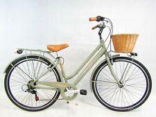 bicicletta da donna bici city bike 28 telaio ALLUMINIO vintage cesto in vimini