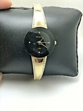 WOMEN'S ARMITRON NOW ANALOG DRESS WATCH GOLD TONE BAND BLACK DIAL 75/5151BKGP-26