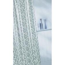 Piastrelle Mosaico Argento Impermeabile in PVC Lavabile In Lavatrice Tenda Da Doccia