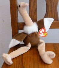 "ty Beanie Baby Original Stretch the Ostrich 11"" Tall Handmade September 21, 1997"