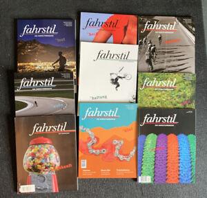 Fahrstil - Das Radkulturmagazin - 9 Hefte