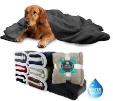 Waterproof Dog Blanket for Large Dogs Reversible Fleece Sherpa Durable Pet Mat
