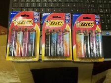 (3) 4pks SPECIAL EDITION FULL SIZE BIC DISPOSABLE LIGHTERS