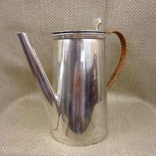 Vintage Coffee Pot Jug Art Deco Bauhaus Style Silver Plated Cane Handle 1 1/2 Pt