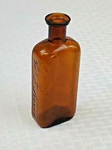 W. F. SEVERA  CEDAR RAPIDS, IOWA- BITTERS?? Medicine Pharmacy Brown Bottle 1890s