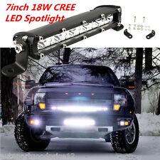 "7"" 18W Waterproof CREE LED Combo Light Bar Spotlight Car Offroad Driving Lamp"