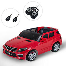 Kids Electric 12V Benz Ride On Toy Car w/ Remote Control Outdoor Toys ML63 Red