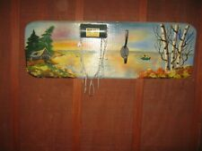 Vtg Used Fishing Wall Hanging Decor Bob Bet Bait Box Coat Hanger Handpainted