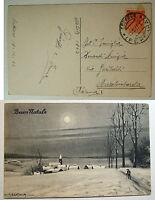 Bertiglia  cartolina  Buon Natale   viaggiata  1953