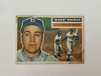 Vintage 1956 Topps No. 150 Duke Snider Brooklyn Dodgers Baseball Card