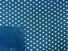 STAR BONDED FUR JERSEY BLUE B63 SWEATSHIRT STRETCH DRESSMAKING FABRIC