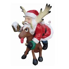 Weichnachten Rudolf Renntier Figur Statue Weihnachtsmann Figuren Dekoration Neu