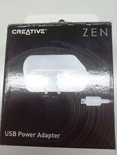 Creative Zen Usb Power Adapter Caricatore Europa Uk e Irlanda 5V DC Max 1 Ampere