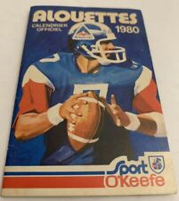 Vintage 1980 Montreal ALOUETTES CFL Football Calendar Schedule Booklet O'Keefe