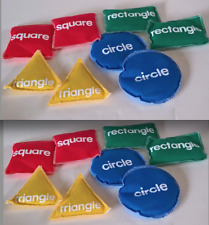 LOT OF 2 SETS ~ Learning Resources Bean Bags 16 Pieces ~ GEOMETRIC SHAPES