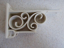 RETRO Vintage Kirsch Double DECORATIVE DRAPERY ROD bracket #51132-B support NEW