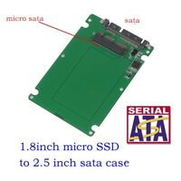 """1.8"""" Micro SATA SSD HDD to 2.5"""" SATA Adapter Converter Card with case 7mm Thick"""