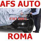 TELO COPRIAUTO TELATO FELPATO FIAT 500 L ANNO 2017 IMPERMEABILE ZIP LATO GUIDA