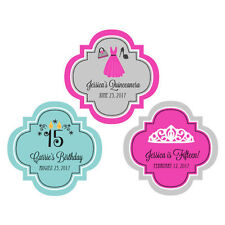 50 Personalized Sweet 16 15 Birthday Party Quinceanera Favor Label