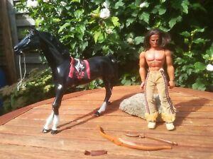 BIG JIM Karl May Figur WINNETOU mit Pferd ILTSCHI Mattel 1975 Wilder Westen