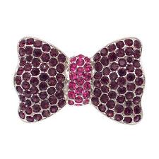 Bow Cocktail Ring Adj Size Rhinestone Purple Rose Halloween Costume Jewelry Gift