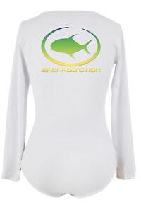 Salt Addiction t shirt Women's long sleeve microfiber saltwater fishing life