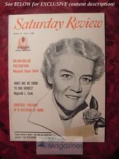 Saturday Review April 21 1956 MARGARET CHASE SMITH WINSTON CHURCHILL