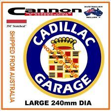 VINTAGE CADILLAC GARAGE DECAL STICKER LABEL240mm DIA HOT ROD GM CHEV