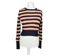 Zara Knit Size Eur M Striped Long Sleeve Jumper Casual