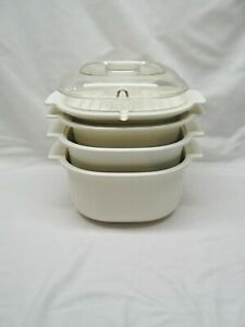 5 PC RUBBERMAID MICROWAVE COOKWARE NESTING SPACE SAVING SET