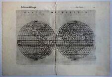 Ptolemy's Geografia map by Ruscelli 1599 ORBIS – Globes World Map 24 x 34cm zaz